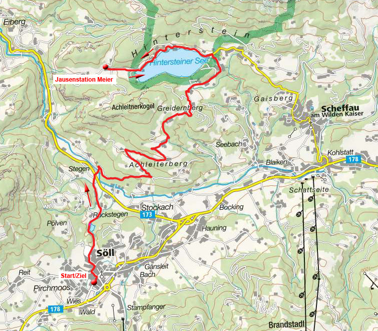 Hintersteiner See & Jausenstation Maier von Söll