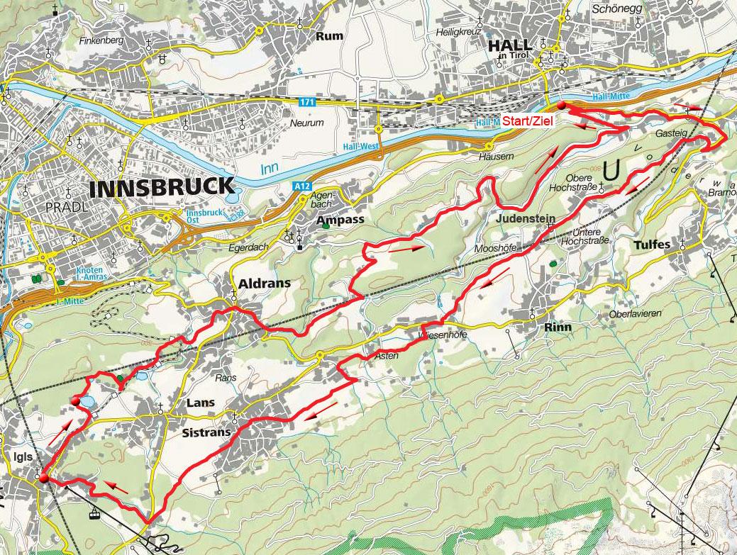 Igls-Lansersee-Ebenwald Runde von Hall