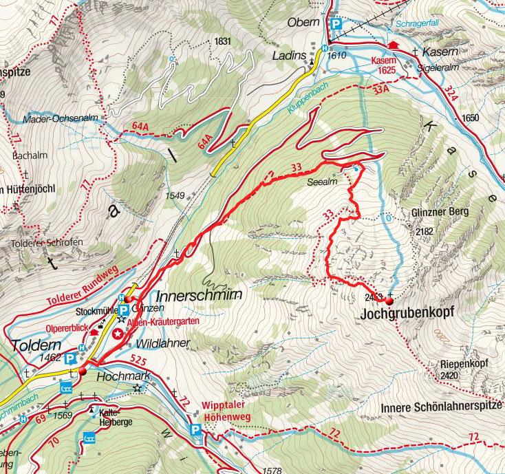 Jochgrubenkopf (2450m) von Innerschmirn