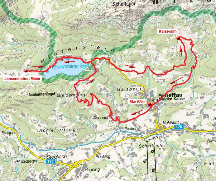 Hintersteiner See - Kaiseralm Runde von Scheffau