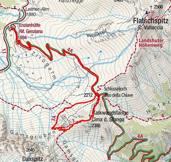 Kalkwandstange (2388m) von der Enzianhütte