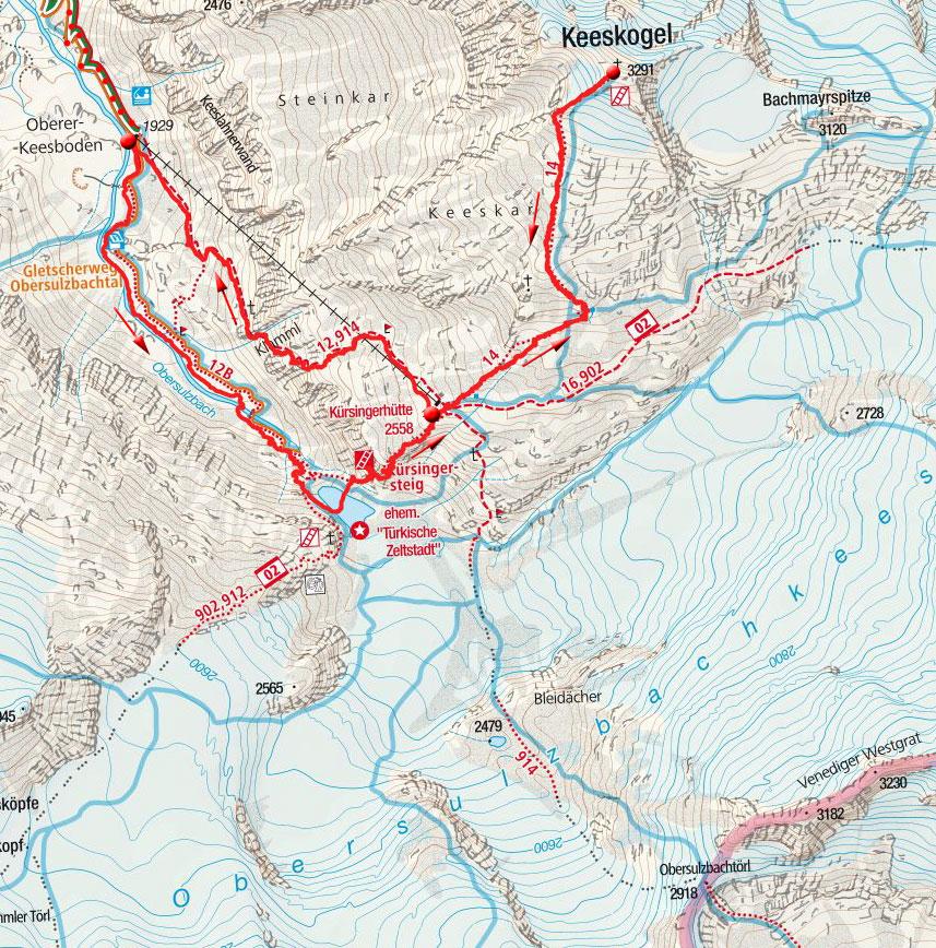 Keeskogel (3291m) aus dem Obersulzbachtal