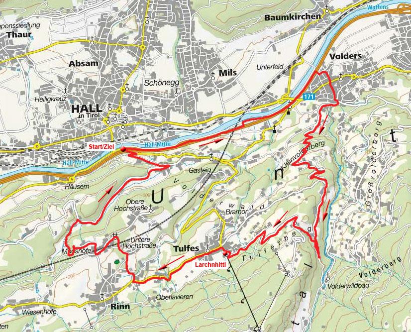 Kleinvolderberg - Windegg Rundfahrt von Hall