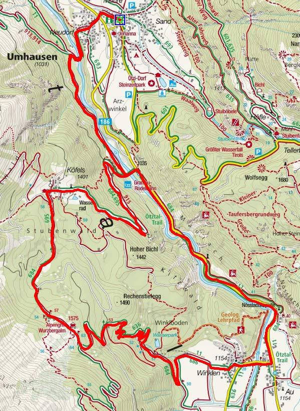 Köfels – Wurzbergalm Runde von Umhausen