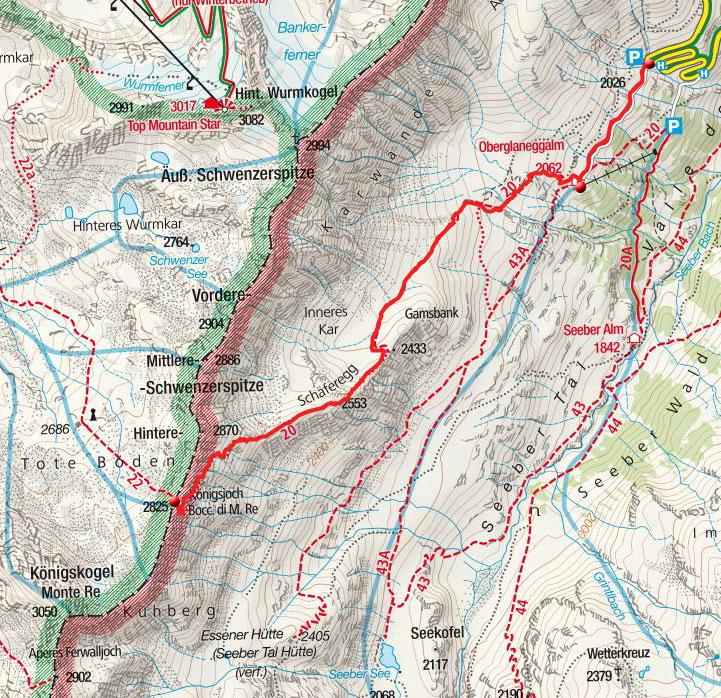 Königsjoch (2825m) aus dem Passeiertal
