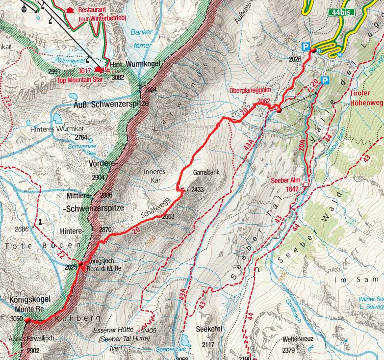 Königskogel (3050m) aus dem Passeiertal