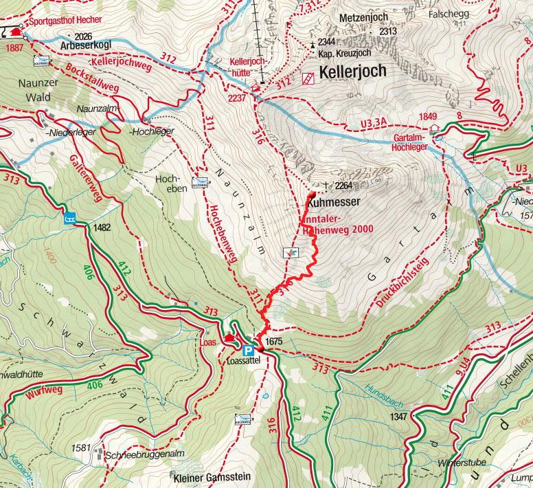 Kuhmesser (2264m) vom Laossattel