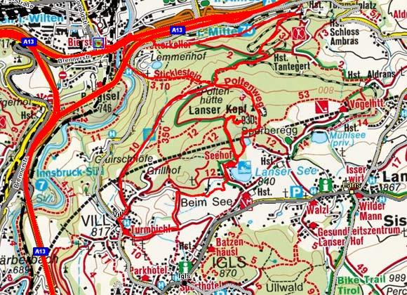 Innsbruck - Lanser Kopf - Vill