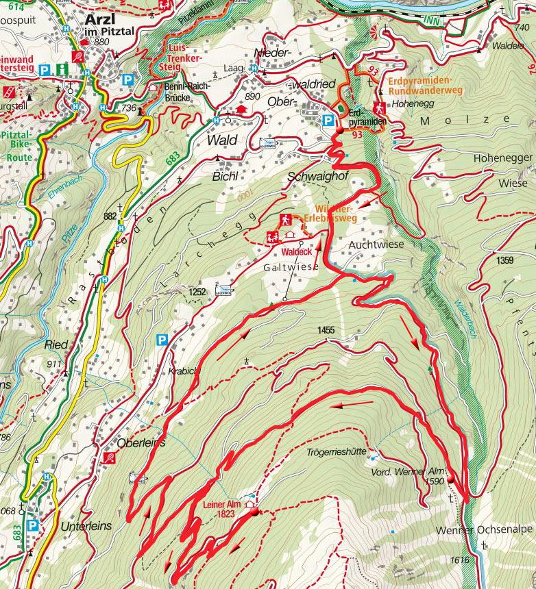 Wennerbergalm – Leineralm Rundfahrt von Wald