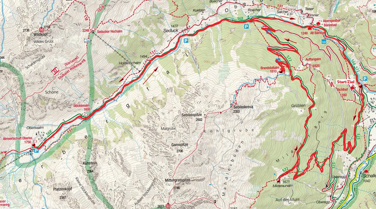 Milderer Berg – Oberbergtal Rundfahrt von Milders