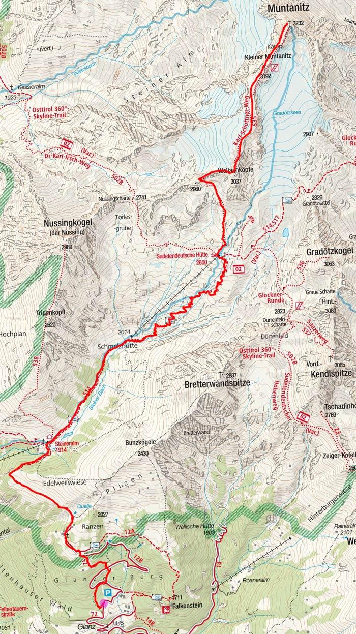 Großer Muntanitz (3232 m) von Glanz