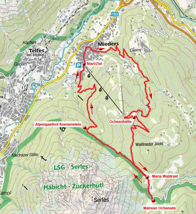 Matreier Ochsenalm & Alpengasthof Sonnenstein Rundfahrt