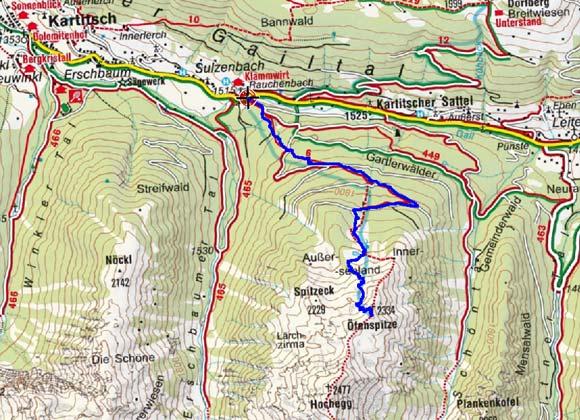 Öfenspitze (2334 m) von Rauchenbach-Klammerwirt