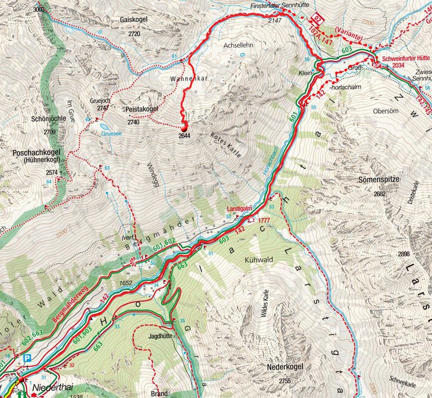 Peistakogel (2644m) von Niederthai