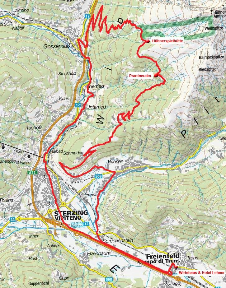 Prantneralm – Hühnerspielhütte Rundfahrt vom Wirtshaus Lener