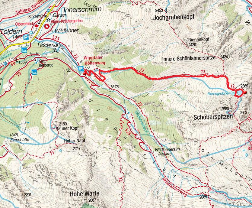 Ramsgrubensee (2369m) von Innerschmirn