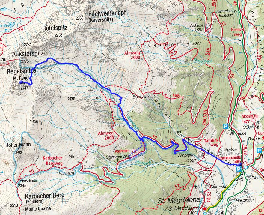 Regelspitze (2747m) von der Talschlusshütte