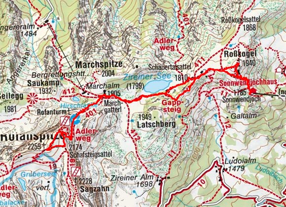 Rofanspitze (2259 m) vom Sonnwendjoch