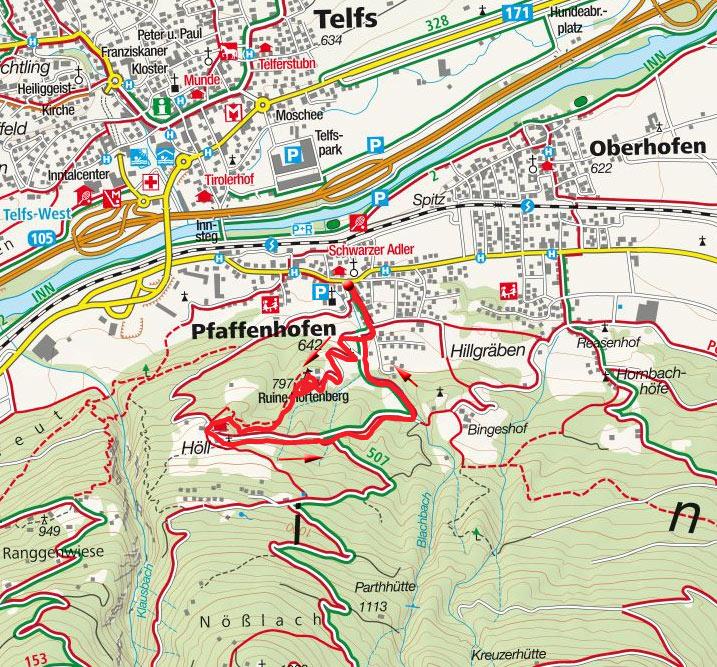 Ruine Hörtenberg – Höll Rundwanderung