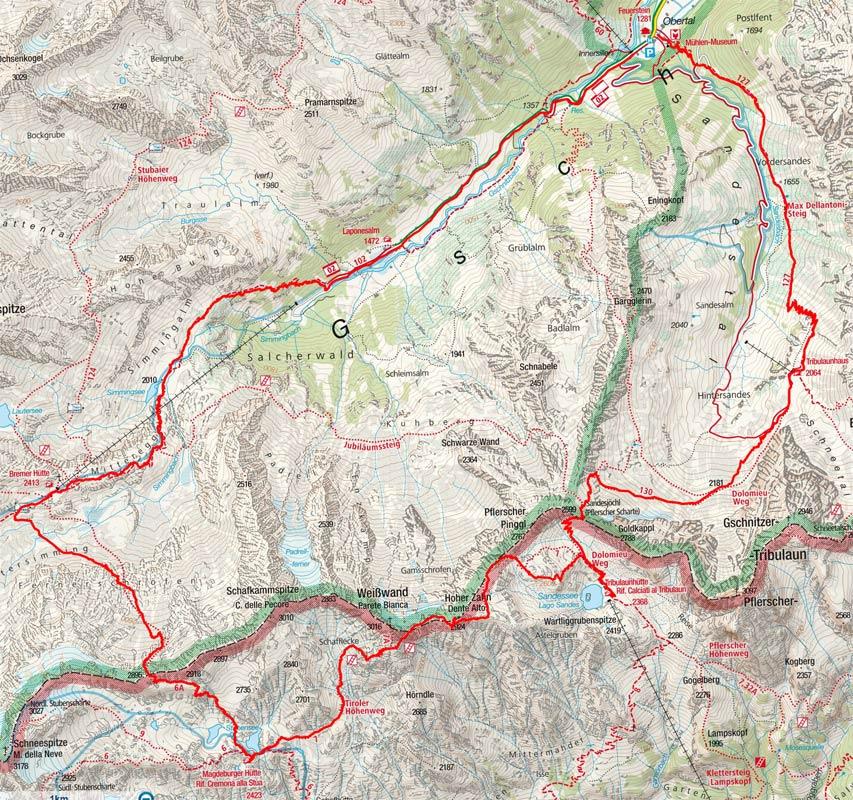 Hochalpine Hüttenrundtour aus dem Gschnitztal (4 Etappen)