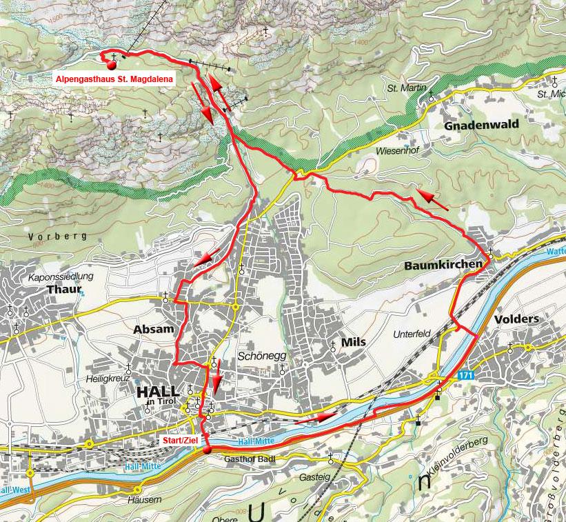 Alpengasthaus St. Magdalena von Hall in Tirol