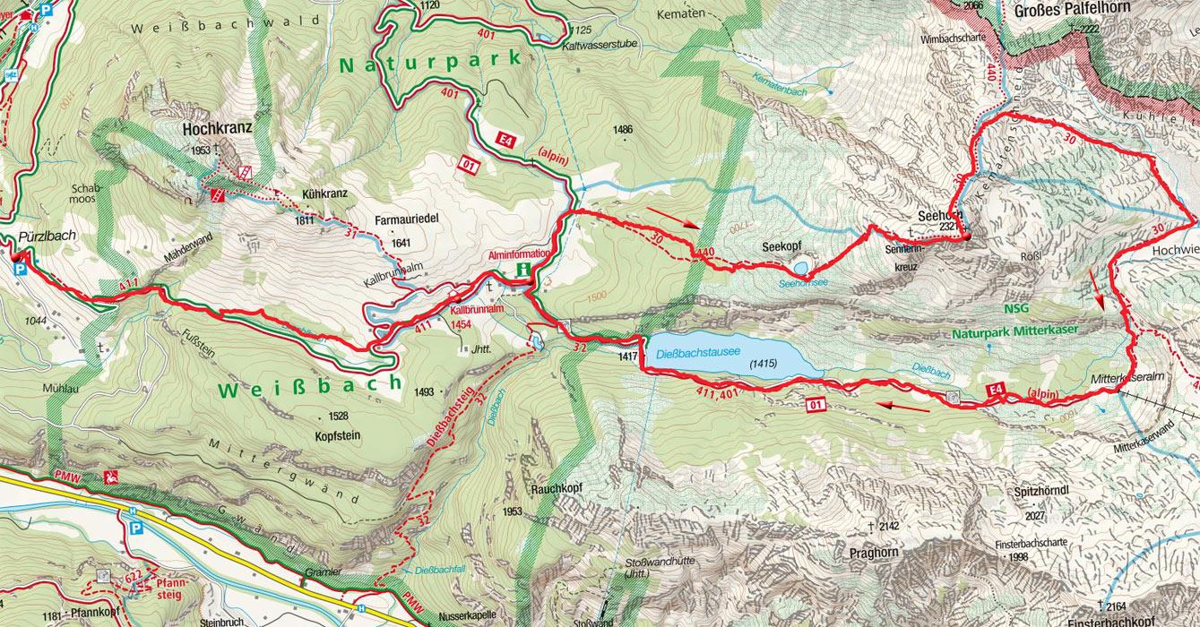 Seehornrunde (2321m) von Pürzlbach