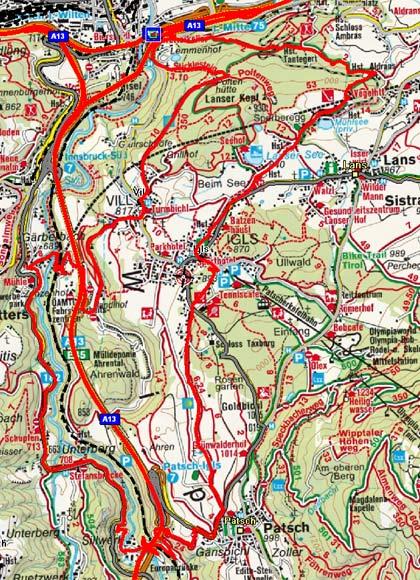 Sillschlucht Rundtour von Innsbruck