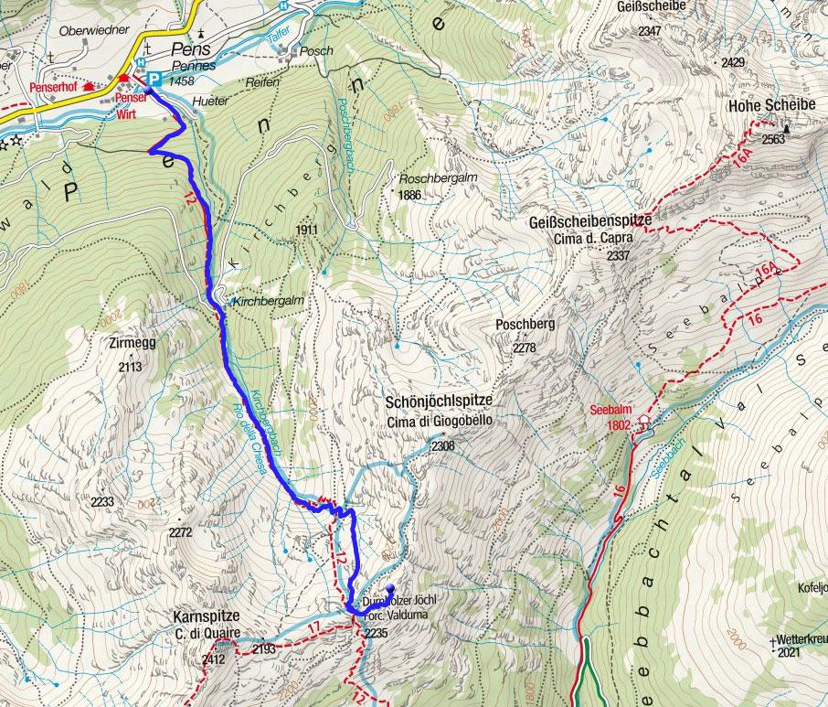 Durnholzer Joch (2270m) von Pens