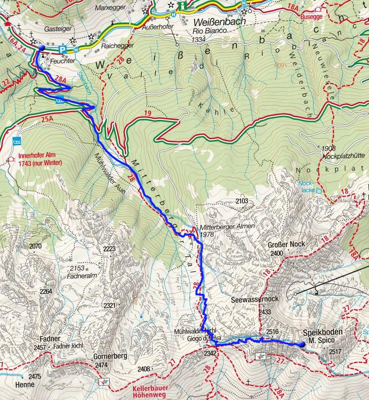 Speikboden (2517m) von Weißenbach