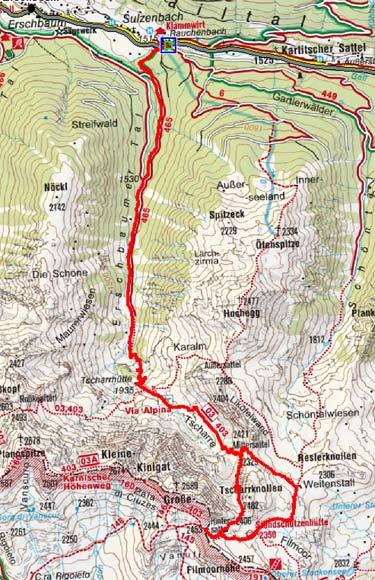 Filmoor Standschützenhütte (2350 m) durch das Erschbaumer Tal