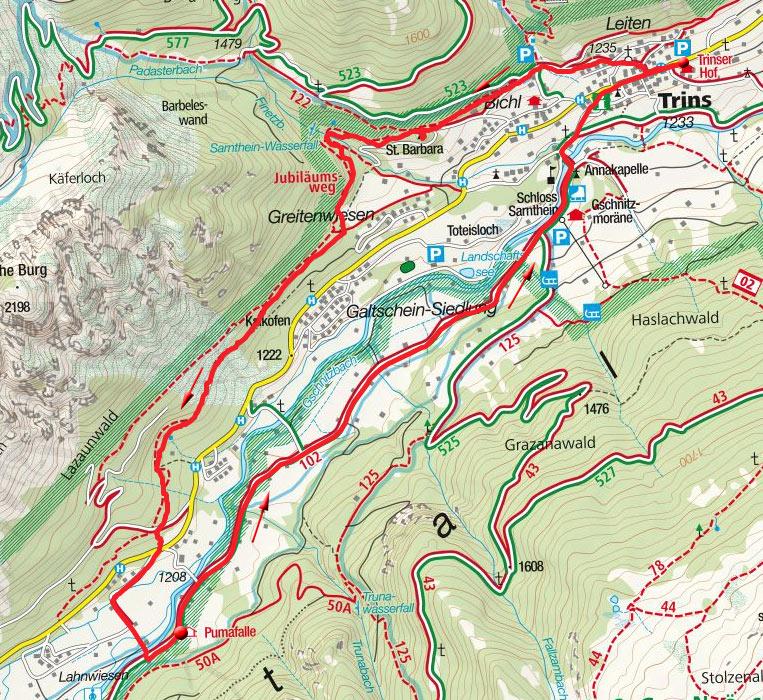 Talwanderung rund um Trins mit Sarnthein-Wasserfall