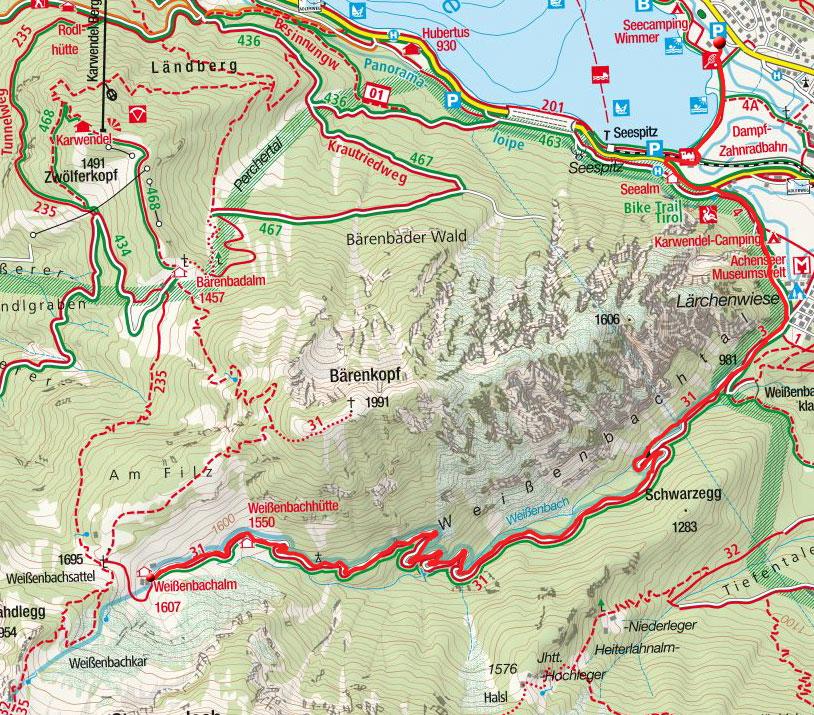 Weissenbachalm von Maurach