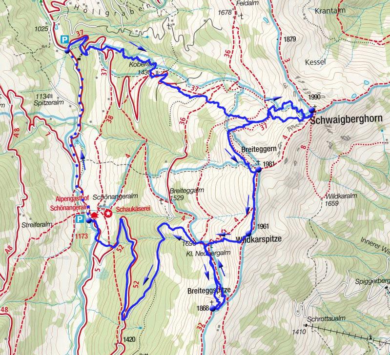 Wildschönauer Reibn (4-Gipfel-Tour)