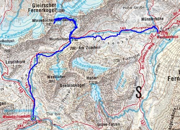 4 Tag: Winnebachseehütte-Winnebacher Weißkogel-Westfalenhaus
