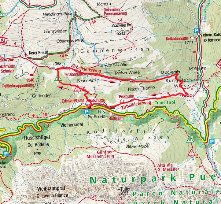 Zirbelkieferweg - Rundwanderung von der Halslhütte