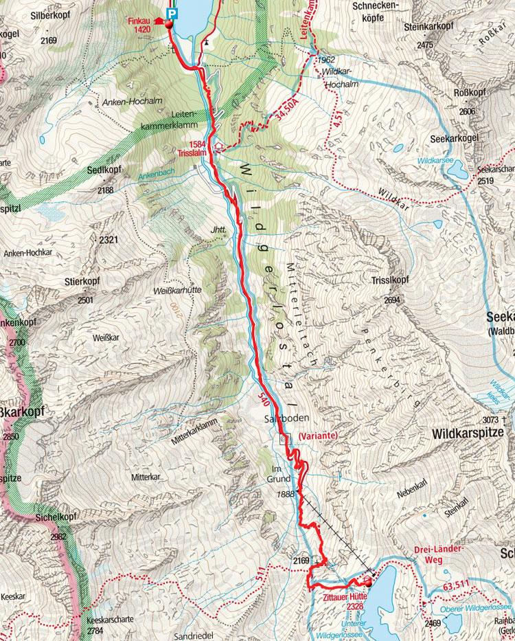 Zittauer Hütte (2330m) & Wildgerlossee durch das Wildgerlostal