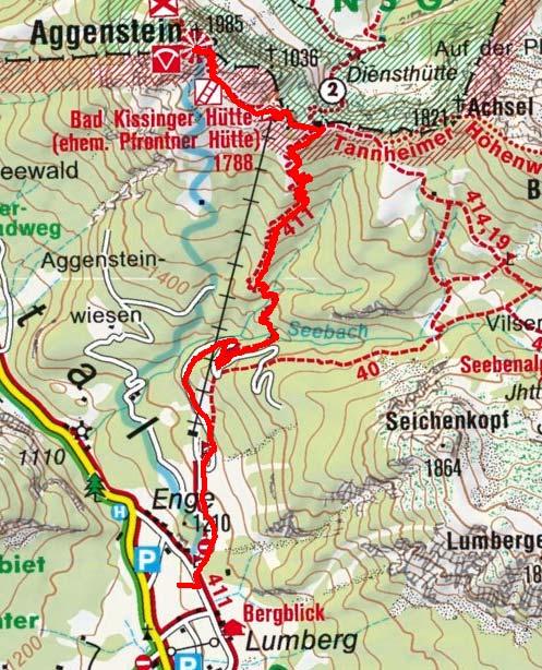 Aggenstein (1985 m) vom Weiler Enge