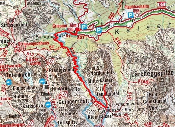 Mitterkaiser (2007 m) von der Griesneralm