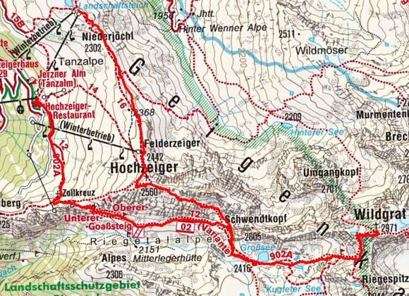 Pitztal Karte.Bergtour Wildgrat ötztaler Alpen