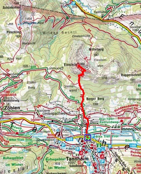 Tannheimer Tal Karte.Bergtour Einstein Von Tahnheim