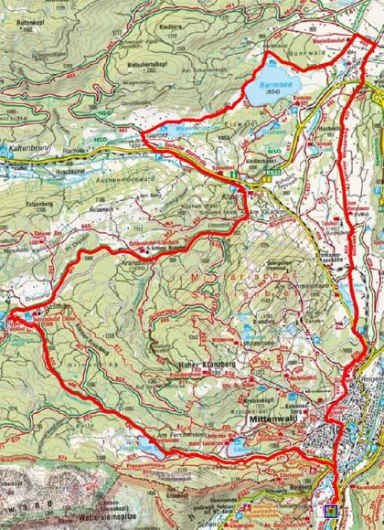 Mittenwalder Seen und Buckelwiesen Rundfahrt